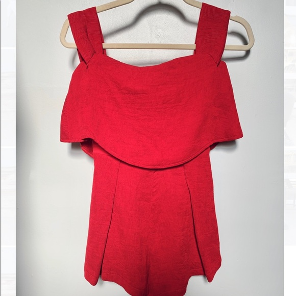 Hello Molly Other - Red off shoulder romper